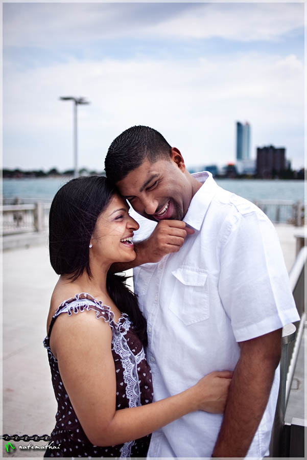 top image for Nima + Robin : modern portraits [teaser] by chicago wedding photographer nate mathai