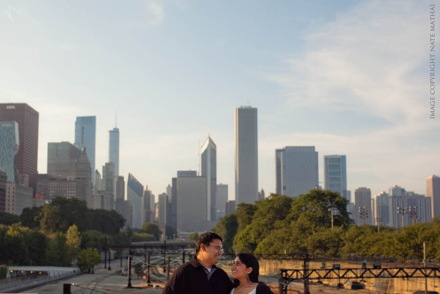 top image for Avni and Sarin's Chicago Portraits {teaser} by chicago wedding photographer nate mathai