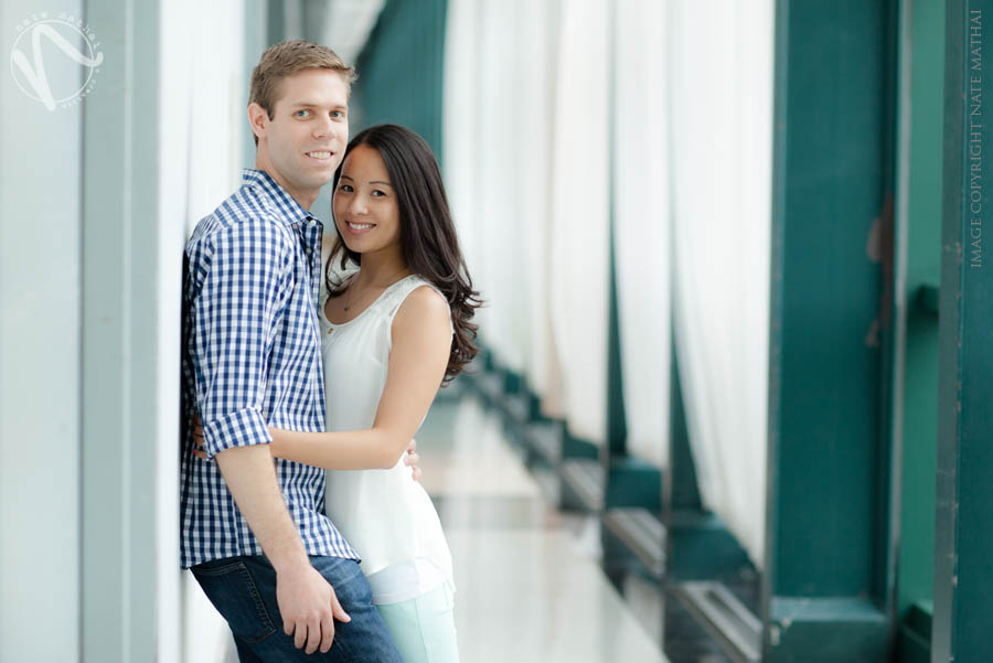 great photography for Mel + Jon's Downtown Chicago Portaits by chicago wedding photographer nate mathai