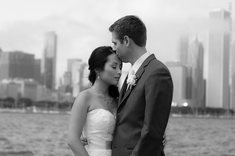 great photography for Mel + Jon's Wedding in Downtown Chicago by chicago wedding photographer nate mathai