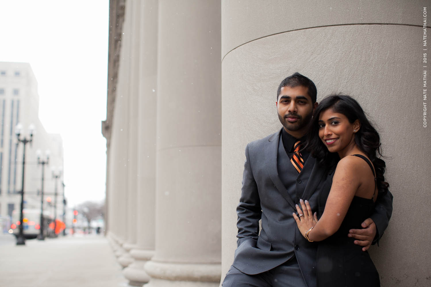 great photography for Stephina and John's Chicago Portraits Teasers by chicago wedding photographer nate mathai