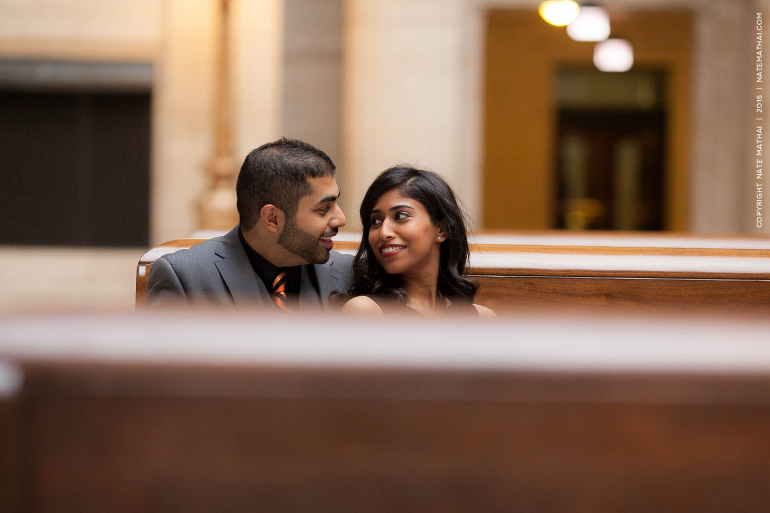 great photography for Stephina and John's Downtown Chicago Portraits by chicago wedding photographer nate mathai