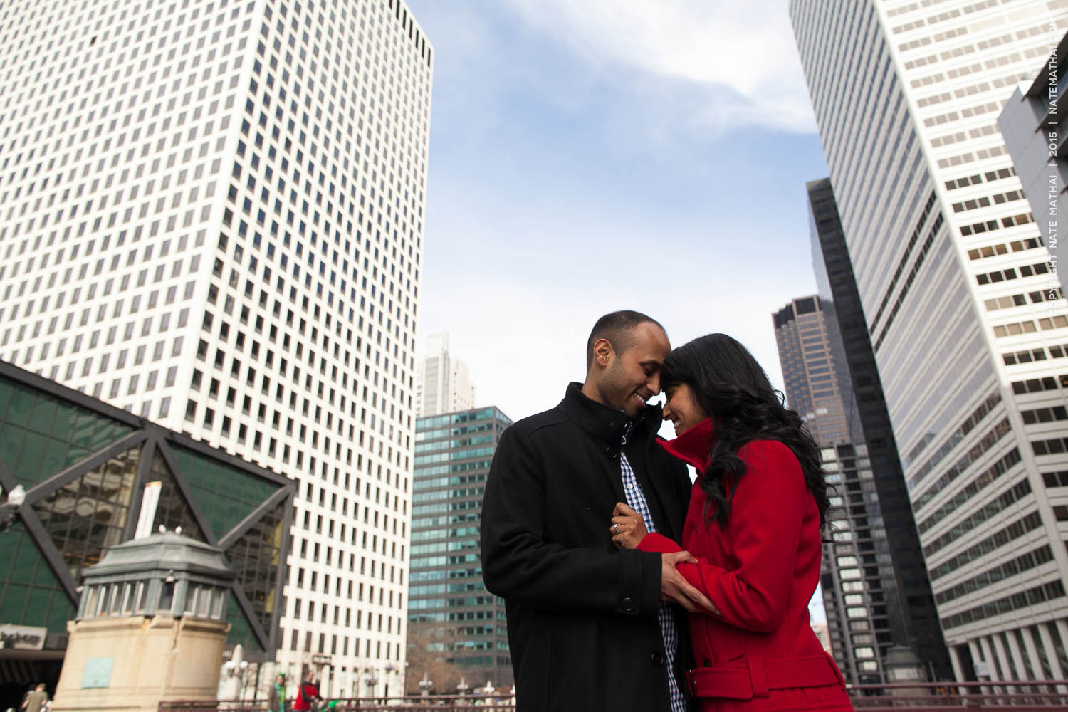 great photography for Taniya and Jeffrey's Chicago Portrait Session by chicago wedding photographer nate mathai