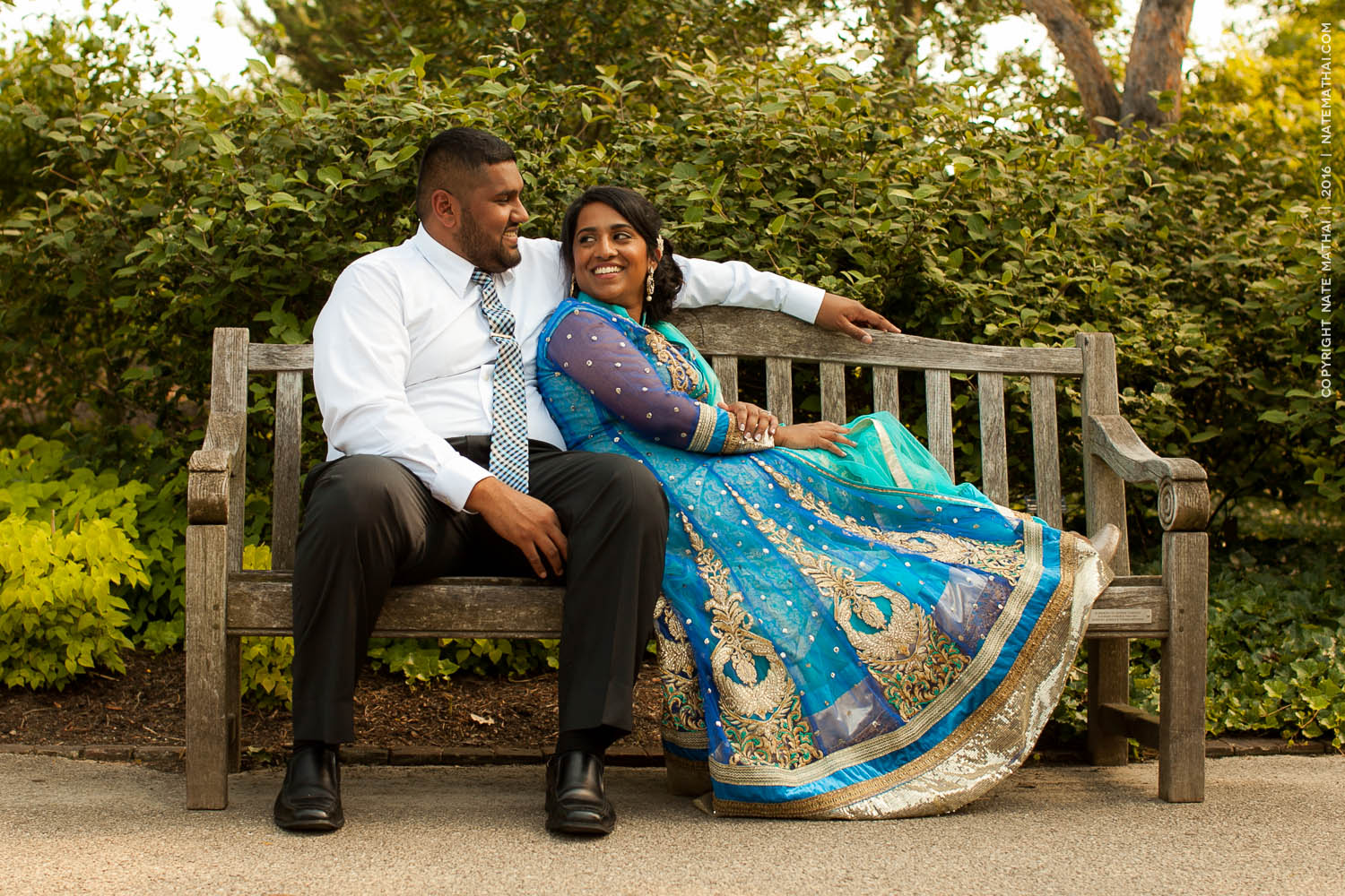 top image for Janze and Jaison's Downtown Portrait Session by chicago wedding photographer nate mathai